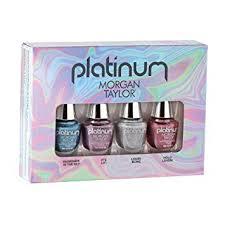 amazon morgan taylor nail lacquer platinum collection mini 4 pk set 5 ml 0 17 oz beauty