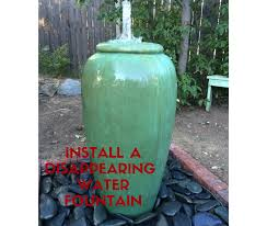 how to install a disappearing water fountain