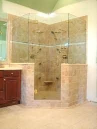showers half glass shower wall door cleaner showers with how to clean walls and doors