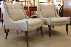 slipper chairs pair of slipper chairs by paul mccobb for calvin