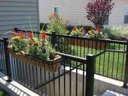 Balcony Fence over balcony planters outdoor beautiful railing planters for your 8973 by xevi.us