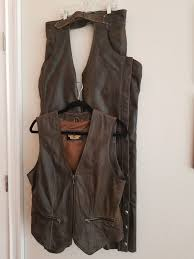 harley davidson womens brown leather vest and chaps m for in virginia beach va offerup