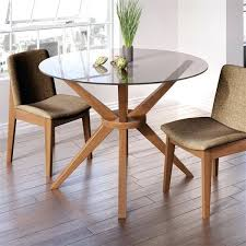 round glass dining table setting ideas