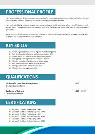 Mba Resume Format For Experienced Resume Template Easy Http