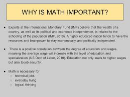 the push for higher math standards in lower grades ppt  why is math important