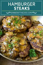 hamburger steak with mushroom gravy