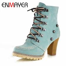 <b>ENMAYER</b> New <b>Ankle Boots</b> for <b>Women</b> Sexy Fashion Plush Balls ...