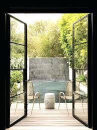 steel and glass door metal french doors steel patio hinged black framed double glass door wooden
