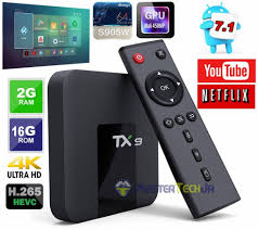 Tv Box Tx9 com Bluetooth Android 7.1.2 Quadcore 2gb/16gb Interface Oranth -  Master Tech Jr
