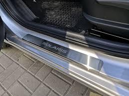 <b>Защитные накладки на пороги</b> — Hyundai Solaris, 1.6 л., 2019 ...