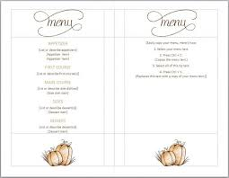 pages menu template template thanksgiving menu template