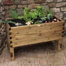 raised veg planter quality redwood