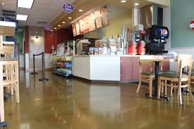 Polished Concrete Floor Kitchen Jersey Mikes Sub Fort Wayne Indiana Polished Concrete Floors By Dancer Concrete Design 46jpg