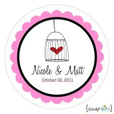 Wedding Label Free Vector Sticker Design Template – Pocketapps