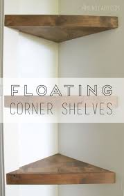 Oak Corner Floating Shelves Furniture Best 100 Diy Corner Shelf Ideas On Pinterest Corner 17