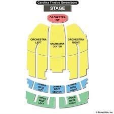 Carolina Theater Seating Chart 2019