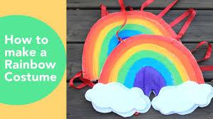 Diy Costume How To Make A Rainbow Costume Cardboard Costume Tutorial No Sew Halloween Costumes
