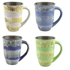 Mug Hand Glazed Ceramic Coffee And Tea Cup With Handle   Gorgeous Artistic  Unique Design Coffee
