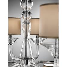 crystal clear chandelier 434 with fabric lampshade