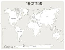 World Continents Printables Map Quiz Game