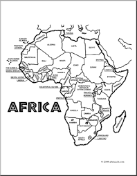 Small Picture Coloring page of Map of Africa Coloring pages Pinterest