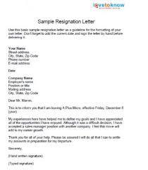 good letter of resignation resignation letter good resignation letter sample for hotel