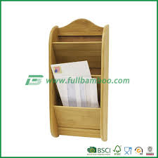 wall mounted office. Bamboo Wall Mounted File Organizer / Letter For Home Or Office