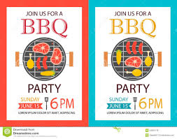 barbecue party invitation bbq template flyer stock vector image barbecue party invitation bbq template flyer