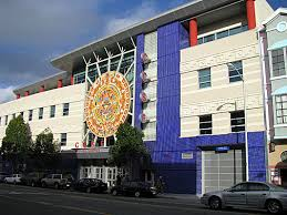 Photo of the Mission campus from the Valencia street entrance