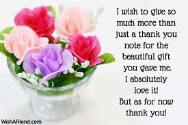 Thank You Message To Boss For Gift I Wish To Give So Much Thank You Notes For Gifts