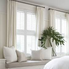 wood blinds and curtains. Plain Wood Plantation Shutters Louvered Blinds Inside Wood And Curtains