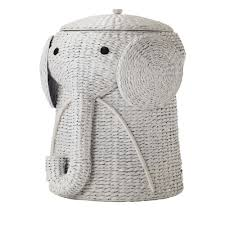 Fantastic Home Interior Decor With Winsome White Rattan Stained Elephant  Wicker Hamper Collection Animal 16 Inch For Clothes Storage Laundry Room  Furniture ...
