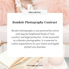 Photography Contracts Boudoir Photography Contract