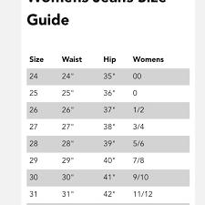 Gap Mens Size Chart Unique Women S Miss Me Jean Size Chart