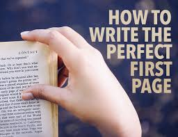 How To Write The Perfect First Page