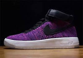 purple flyknit on the nike air force 1 mid sneakernewscom air force 1 flyknit