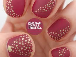 nail polish : Christmas Nail Art Stunning Dotted Christmas Tree ...