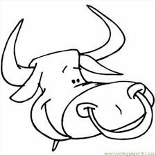 Small Picture Bull Head Coloring Page Free Bull Coloring Pages