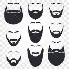 Geïsoleerd Mannelijk Gezicht Silhouet Met Snor En Baard Vector Logo Set Mannen Kapperszaak Embleem Collectie Kapper Logo Scheren Machine En