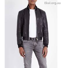 ideal men s black leather leather coats jackets jackets jacket tom ford funnel neck