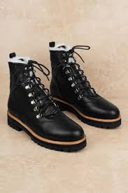 sol sana harlan black lace up leather boots