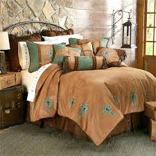 western quilts bedding sets las cruces ii southwestern cross faux suede comforter set transitional high fashion