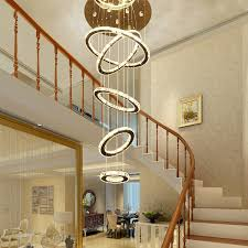 large contemporary chandelier lighting s modern contemporary large crystal circle 5 6 rings chandelier luxry