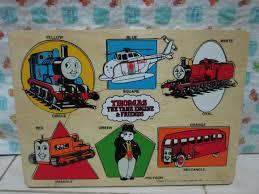 thomas the tank engine and friends wooden puzzles ของเล นเสร มพ ฒนาการสำหร บเด กม อสอง