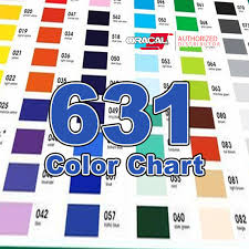 Oracal 651 Color Chart Oracal 631 Color Chart