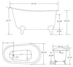 size of clawfoot tub inch cast iron soaking tub bathtub dimensions best size for clawfoot tub