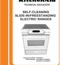 kitchenaid electric stove manual kitchen cabinets kitchenaid kesc307hbt4 electric slide in range timer stove