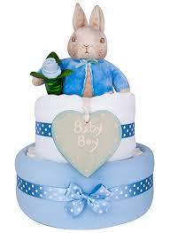 2 Tier Congrats Baby Boy Peter Rabbit Nappy Cake Party Savvy