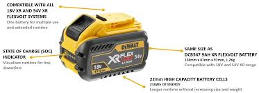 Dewalt Battery Comparison Chart Dewalt 12ah Battery Coming Soon Anglia Tool Centre