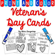 Start by scrolling to the bottom of the post, under the terms of use, and click on the text link that says >> download <<. Veteran S Day Thank You Cards Print Color By Mskinderhop Tpt